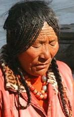 Tibetans meditating