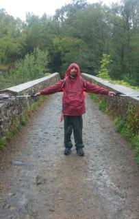 Valerio in cammino per Santiago di Compostela