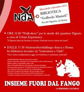 Insieme Fuori dal Fango a Roma 4 dicembre 2013